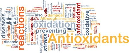 Oxidative Stress and Antioxidants Word Cloud